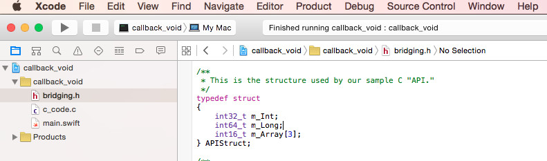 C Callback with Void Pointer Parameter in Swift