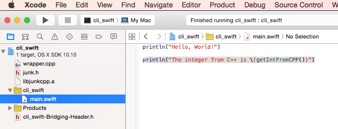 Use C++ Code in Swift